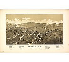 Aerial View of Oxford, New York (1888) Photographic Print