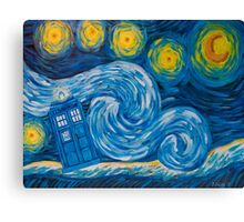 Starry Tardis Night Canvas Print