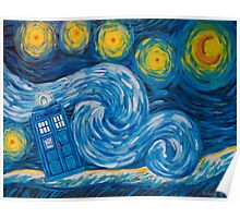 Starry Tardis Night Poster