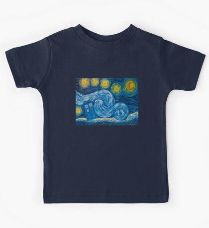 Starry Tardis Night Kids Tee