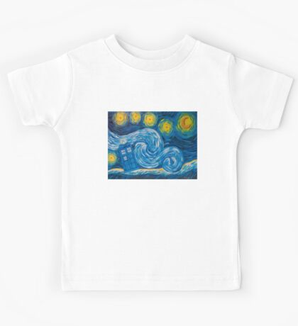 Starry Tardis Night Kids Tee