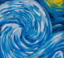 Starry Tardis Night Sticker