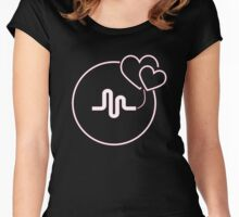 pink musically Women's Fitted Scoop T-Shirt