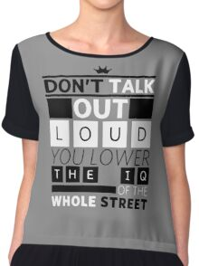 DETECTIVE QUOTES Chiffon Top