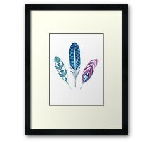 Bohemian feather design Framed Print