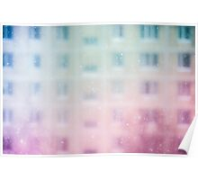 Snowfall in a big city Poster