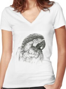 Ara ararauna G026 by schukina Women's Fitted V-Neck T-Shirt