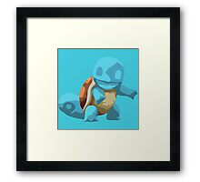Minimalistically Mischievious Squirtle Framed Print