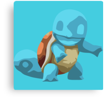 Minimalistically Mischievious Squirtle Canvas Print