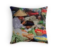 Siem Reap - Fresh food market Throw Pillow