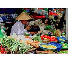 Siem Reap - Fresh food market Photographic Print