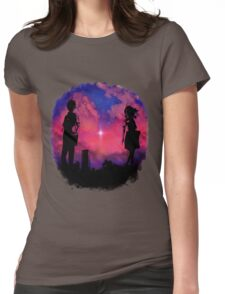 Anime sunset Womens Fitted T-Shirt