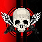 Wing Skull - RED by Adamzworld