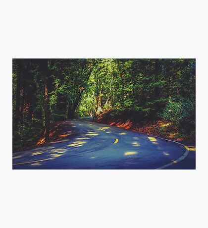 Road to nature on Highway 1, California, USA Photographic Print