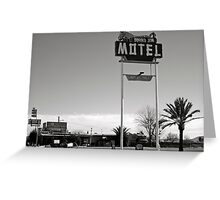 Burro Jim Motel Greeting Card