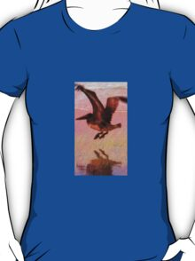 Beautiful Pelican in Flight with his Shadow T-Shirt
