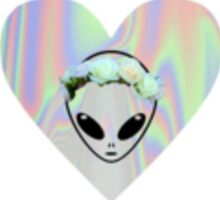 Holographic Alien Babe Sticker