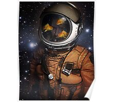 Astronauts and Goldfish Poster