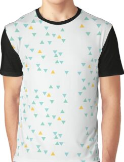 Illustration. Seamless pattern of colorful tiny triangles. Color: blue, yellow and turquoise. Modern hipster polygonal background Graphic T-Shirt