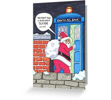 Santa's Tardis Greeting Card
