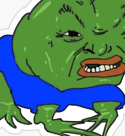 Pepe the Angry Frog Sticker
