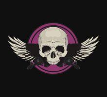 Wing Skull - PINK T-Shirt