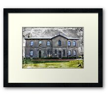 Spooky Old Mansion Framed Print