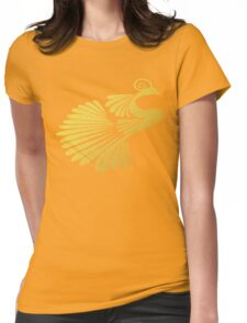 Gold Peacock Womens Fitted T-Shirt
