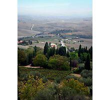 Pienza Landscape Photographic Print