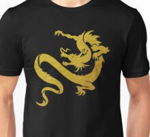 Gold Tribal Dragon Unisex T-Shirt