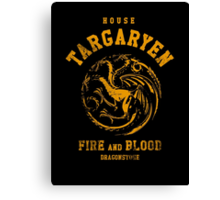 HOUSE TARGARYEN Canvas Print