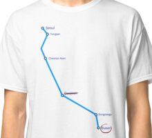 Train To Busan Zombie Film Train Route Classic T-Shirt