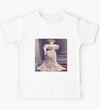 Vintage lady,chic,victorian lady, beautiful portrait of lady, rustic,old,photo Kids Tee