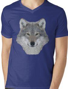 Gray Wolf Portrait Mens V-Neck T-Shirt