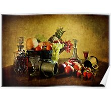 Fruit and Wine  Poster
