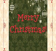 """Merry Christmas"" Card for Your Family and Friends by romanticushions"