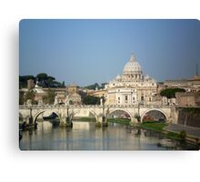 Sunday morning in Rome Canvas Print