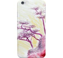 Drawing Day Purple Bonsai Island iPhone Case/Skin