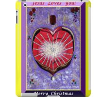 JESUS LOVES YOU - MERRY CHRISTMAS! iPad Case/Skin