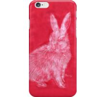 White Rabbit (Monochromatic Hue Series) iPhone Case/Skin