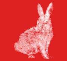 White Rabbit (Monochromatic Hue Series) Kids Tee