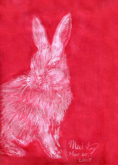 White Rabbit (Monochromatic Hue Series) by Mui-Ling Teh