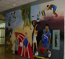 Gym mural by Mui-Ling Teh