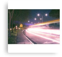 Light streak  Long exposure  Canvas Print
