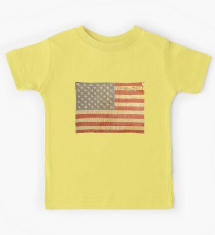 American flag - destroyed, vintage, distressed Kids Tee