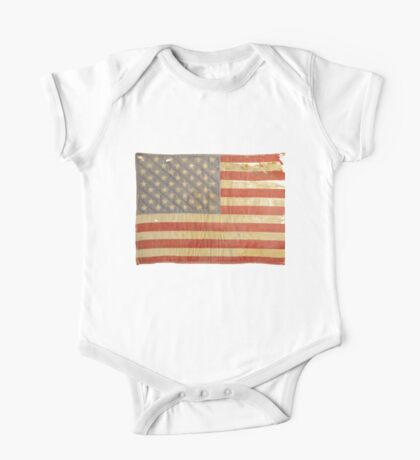 American flag - destroyed, vintage, distressed One Piece - Short Sleeve