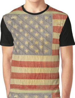 American flag - destroyed, vintage, distressed Graphic T-Shirt