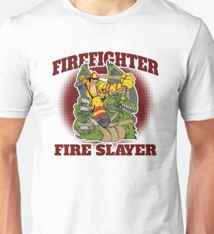Firefighter Fire Slayer Dragon Unisex T-Shirt