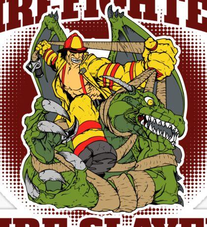 Firefighter Fire Slayer Dragon Sticker
