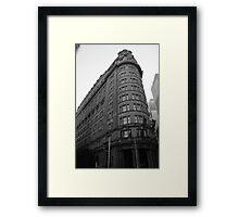 History in building  Framed Print
